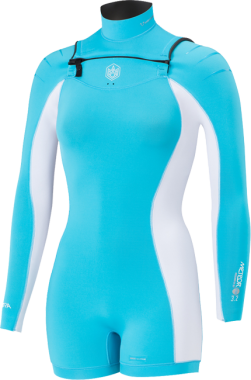 Manera Womens X10D Shorty L/S 3/2 cyan
