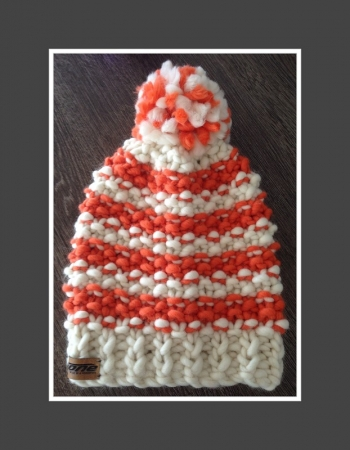 Beanie Bommel BIG - Natur Orange