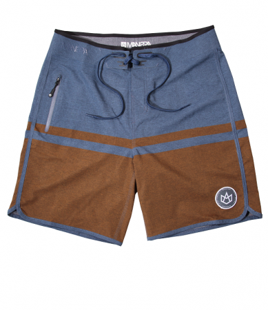 HAAPITI Boardshort - Alloy blue / Flame orange
